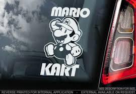 Mario Kart Car Window Sticker Super Bros Nintendo Game Art N Luigi Ebay