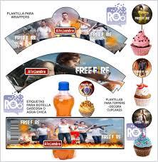 Kit Imprimible Free Fire Invitaciones 3 Tarjetas Digital 150 00 En Mercado Libre