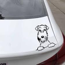 Yjzt 13 4x15 6cm Cute Schnauzer Dog Car Sticker Vinyl Decal Car Window Funny Decor Black Silver C24 1574 Shop The Nation