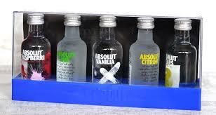 absolut flavoured vodka gift pack 5
