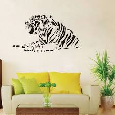 Lying Tiger Wall Stickers Home Decor Living Room 42x76cm Custom Color Vinyl Wall Decals Quotes 3d Wall Stickers Tiger Sa079 Wall Sticker Tiger Stickers Home Decortiger Wall Stickers Aliexpress