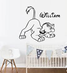 Personalized Name Wall Decal Lion King Wall Decal Simba Wall Art Disney Kids Wall Decal Boys R Name Wall Decals Boys Room Decor Kids Wall Decals