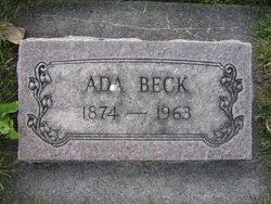 Ada Beck (1874-1963) - Find A Grave Memorial