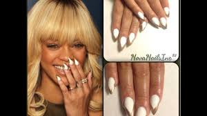 rihanna white gold nail tutorial