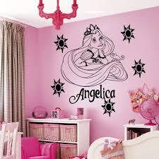 Custom Name Cartoon Princess Vinyl Wall Art Sticker Girl S Bedroom Decal Kids Nursery Room Art Decor Wall Paper S 38 Decorative Wall Paper Vinyl Wallvinyl Wall Art Aliexpress