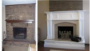 fireplace mantel and hearth remodel