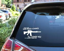 Pro Gun Decal Etsy