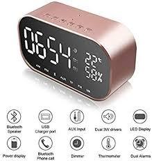 alarm clock radio bluetooth speaker
