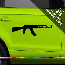 50 Off Ak47 Car Decal Kalashnikov Assault Rifle Truck Or Etsy