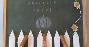 Whimsical Pumpkin Patch Mantel Featuring Repurposed Ping Pong Paddles My Thrift Store Addiction