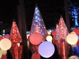 holiday lights at missouri botanical garden