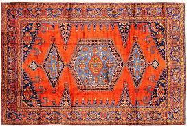 blue and orange persian rug orange
