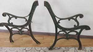 ornate cast iron garden bench legs