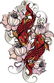 Amazon Com Red Koi Fish With Peach Lotus Flowers Vinyl Decal Sticker 8 Tall Arts Crafts Sewing