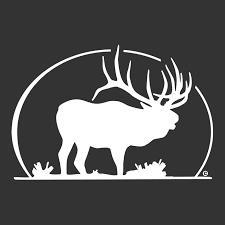 Elk Silhouette Elk Decal