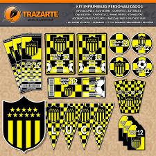 Kit Imprimible Penarol Cap Futbol Personalizado Candy Bar 600