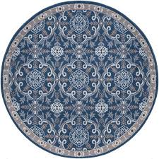 navy 5 ft round area rug