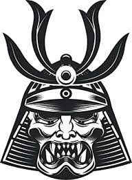 Amazon Com Scary Evil Japanese Kabuki Samurai Mask Cartoon Vinyl Sticker 2 Tall Little Nose Snarling Automotive