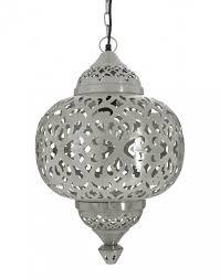silver moroccan matki hanging pendant