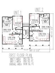 triplex house floor plans designs