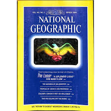 national geographic magazine march 1984