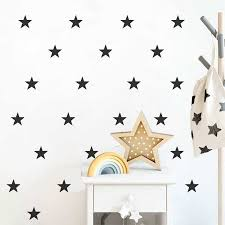 Star Wall Sticker Vinyl Kids Room Children S Bedroom Wall Decal Removable Decoration Nursery Wallpaper Mural Home Decor Wallpapers Aliexpress