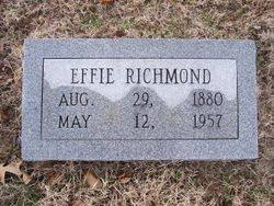 Effie Reed Richmond (1880-1957) - Find A Grave Memorial