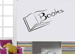 Amazon Com V Studios Wall Decal Books Reading Novel Literature Page Library Vinyl Stickers Vs166 Home Kitchen