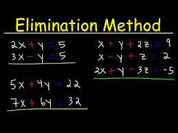 elimination method for solving systems