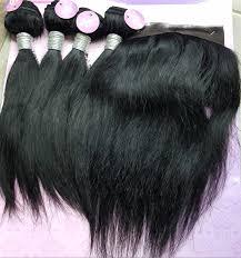 apple straight 5 pieces hair