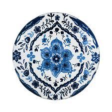 18 blue pattern glass bird bath topper