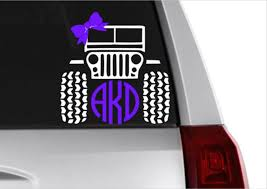 Jeep Circle Monogram Decal Jeeps Are For Girls Jeep Decal Etsy