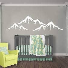 Amazon Com Mountains Nursery Wall Decal Mountain Wall Decal Nursery Baby Nursery Decal Vinyl Sticker Wall Decal Nursery Boy Room Wall Decor Baby Boy Room Wall Decals Vs83 Handmade