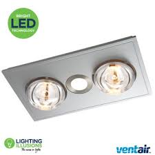 heat led light and exhaust fan