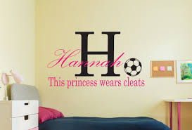 Personalized Girls Soccer Wall Decal This Princess Wears Cleats Soccer Wall Decal Wall Decals Vinyl Wall Decals Vinyl Decals