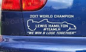 Lewis Hamilton 2018 World Champion 44 Custom Car Vinyl Die Cut Stickers Decals Home Garden Children S Bedroom Boy Decor Decals Stickers Vinyl Art