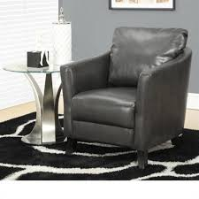 monarch faux leather accent chair in