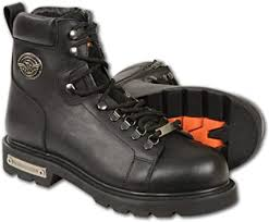 leather mbm100 mens black lace up boots