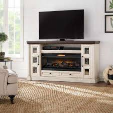 white fireplace tv stands electric