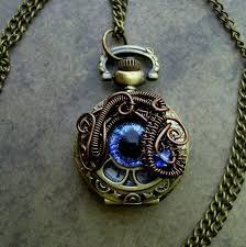 pocket watch necklace pendant color