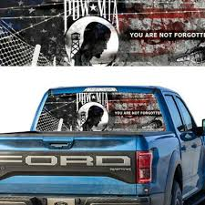 Auto Parts And Vehicles Pow Mia Usa Flag Rear Window Graphic Decal Truck Van Car Car Truck Graphics Decals