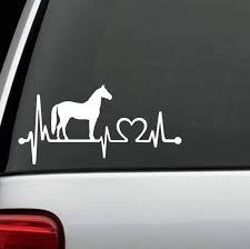 Horse Love Heartbeat Window Decal Stickers Custom Sticker Shop