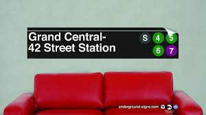 42 Street Grand Central Vinyl Wall Decal Underground Signs