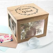 oak photo keepsake box