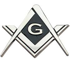 Cut Out Shaped Square And Compass Masonic Car Bumper Emblem Disc For Freemasons Masonic Gifts Back Adhesive Sticker Mason Zone