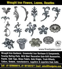 Wrought Iron Leaves Manufacturers Exporters Suppliers India Http Www Finedgeinc Com 91 8289000018 Finedge Inc