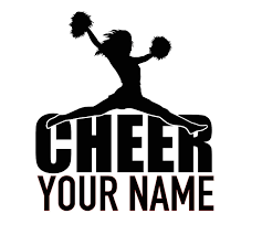 Amazon Com Personalized Custom Cheer Name Vinyl Decal Cheerleader Bumper Sticker For Tumblers Laptops Car Windows Cheer Squad Team Gift Handmade