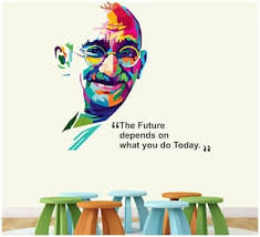 Buy Stickme Mahatma Gandhi Father Of Nation Office Motivational Inspirational Quotes Wall Sticker Sm581 Pvc Vinyl 75cm X 65 Cm Online At Low Prices In India Paytmmall Com