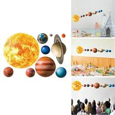 Solar System Planets Wall Stickers Kids Room Living Room Home Decoration Wall Decal Home Decor Baby Nursery Diy Wall Decoration Wall Stickers Aliexpress