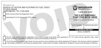 Motor Carrier Road Tax Decals